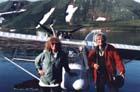 Charly and Maureen with the Ultralight at Kambalnoe
